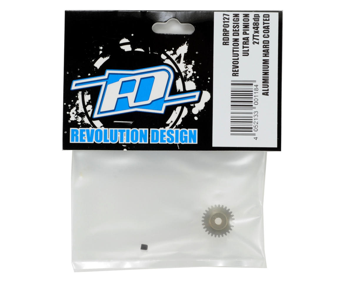 Revolution Design 48P Aluminum Hard Coated Ultra Pinion Gear (3.17mm Bore) (27T)