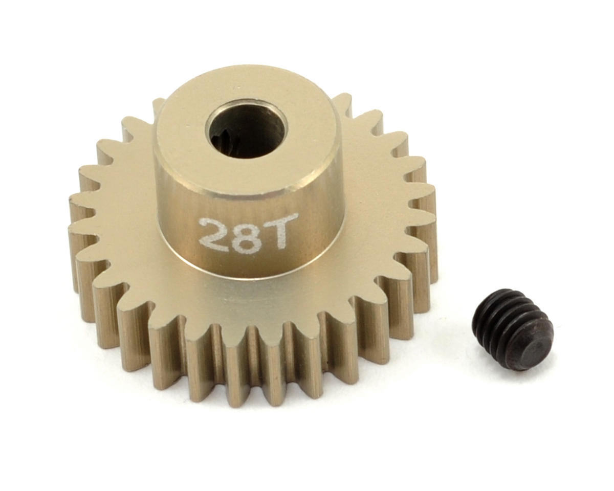 48P Aluminum Hard Coated Ultra Pinion Gear (3.17mm Bore) (28T) by Revolution Design
