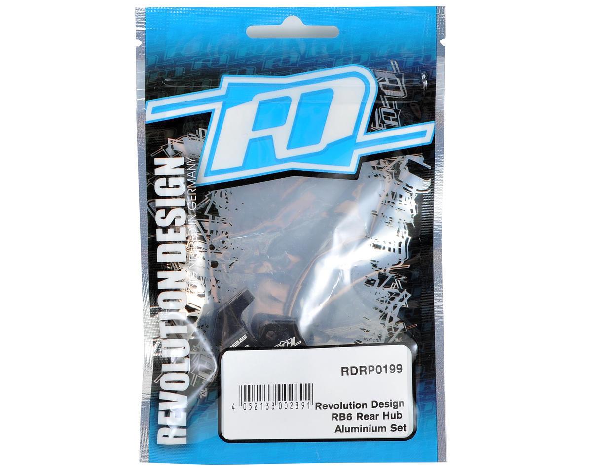 RDRP0199 Revolution Design Aluminum RB6 Rear Hub Set