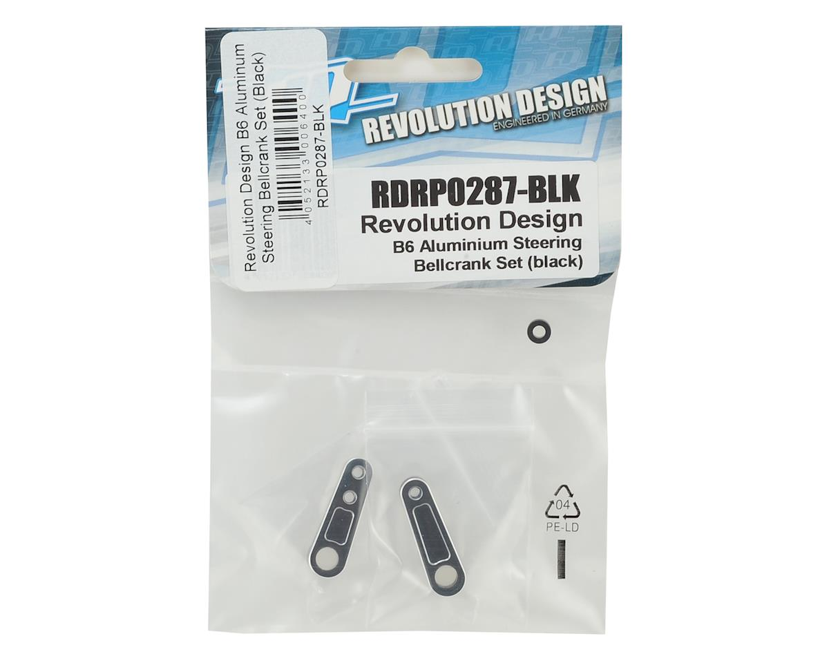 Revolution Design B6 Aluminum Steering Bellcrank Set (Black)