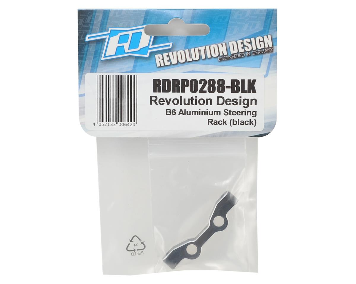 Revolution Design B6 Aluminum Steering Rack (Black)