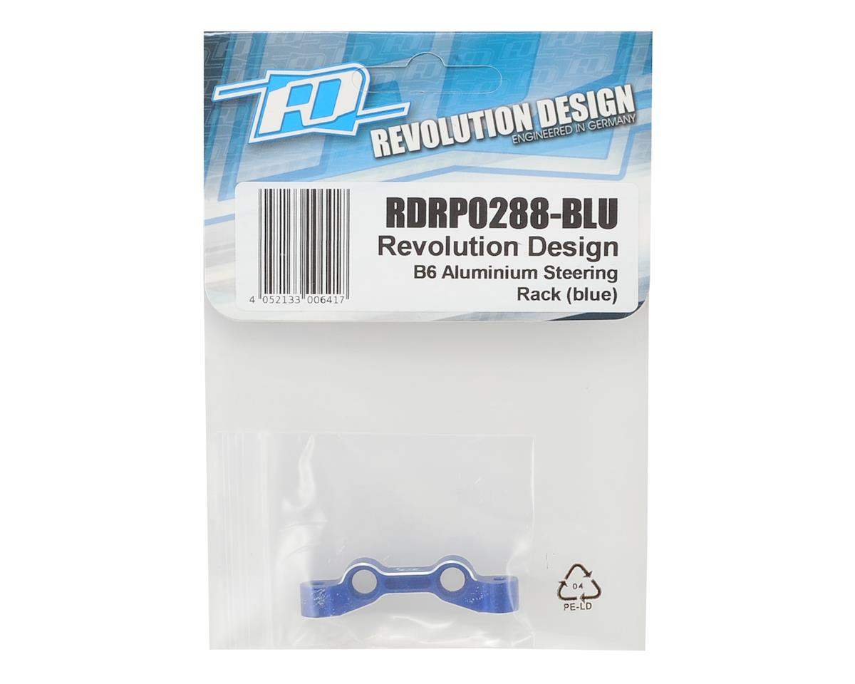 Revolution Design B6 Aluminum Steering Rack (Blue)