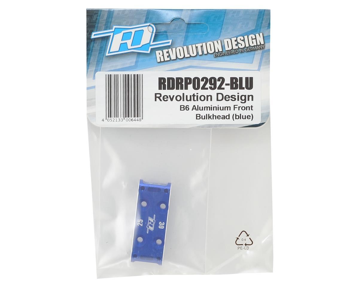 B6 Aluminum Front Bulkhead (Blue) by Revolution Design