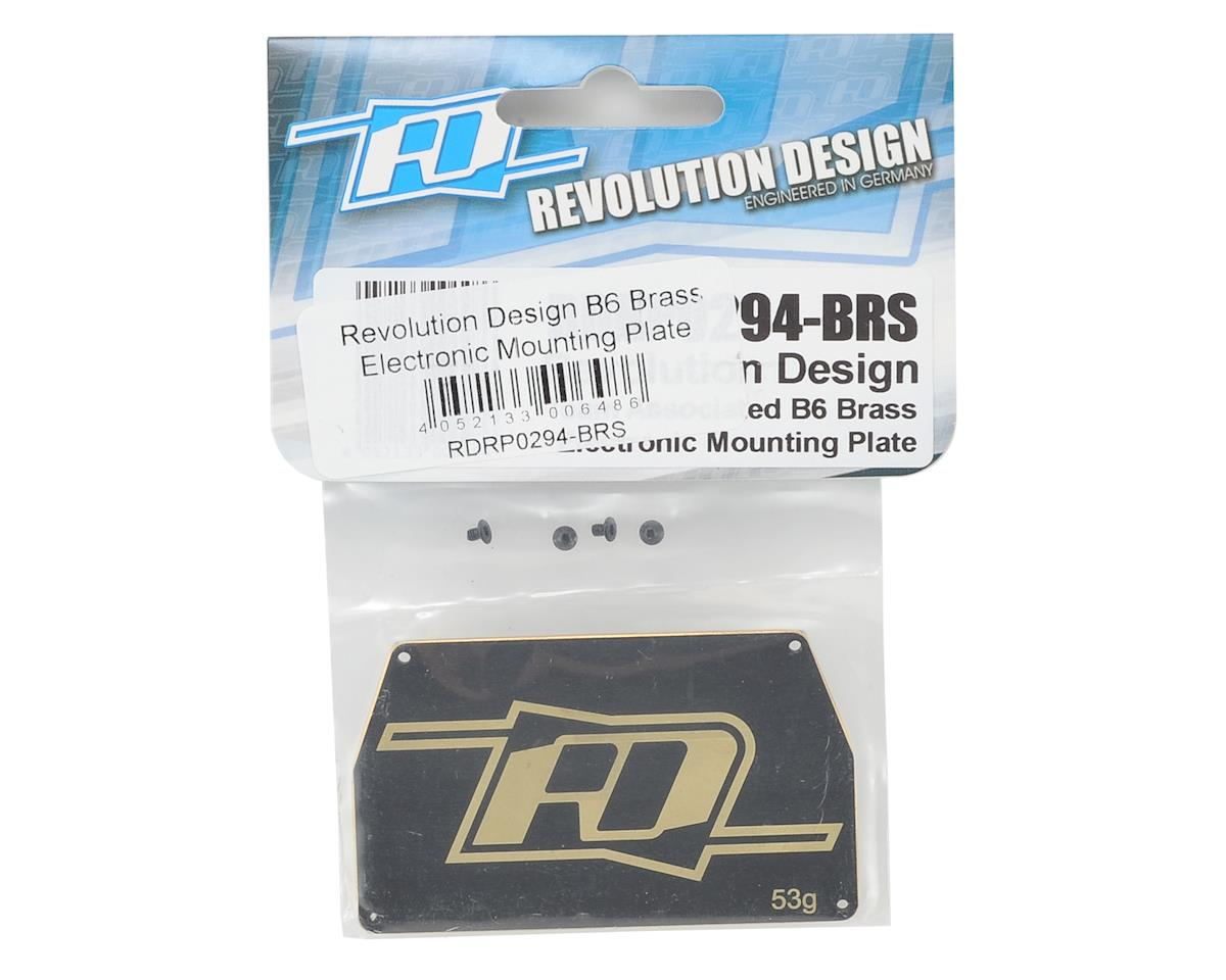Revolution Design B6 Brass Electronic Mounting Plate