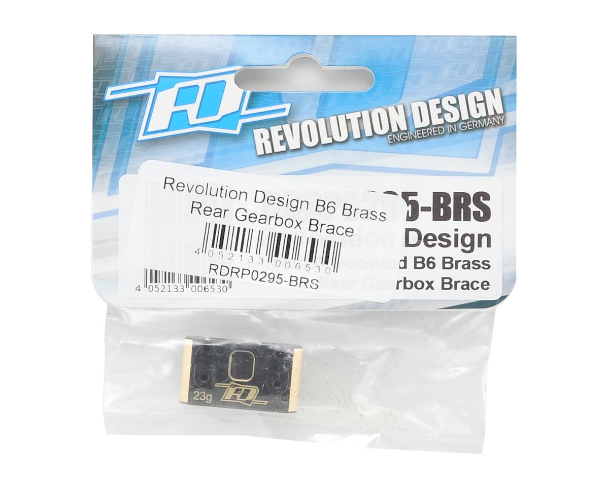 Revolution Design B6 Brass Rear Gearbox Brace
