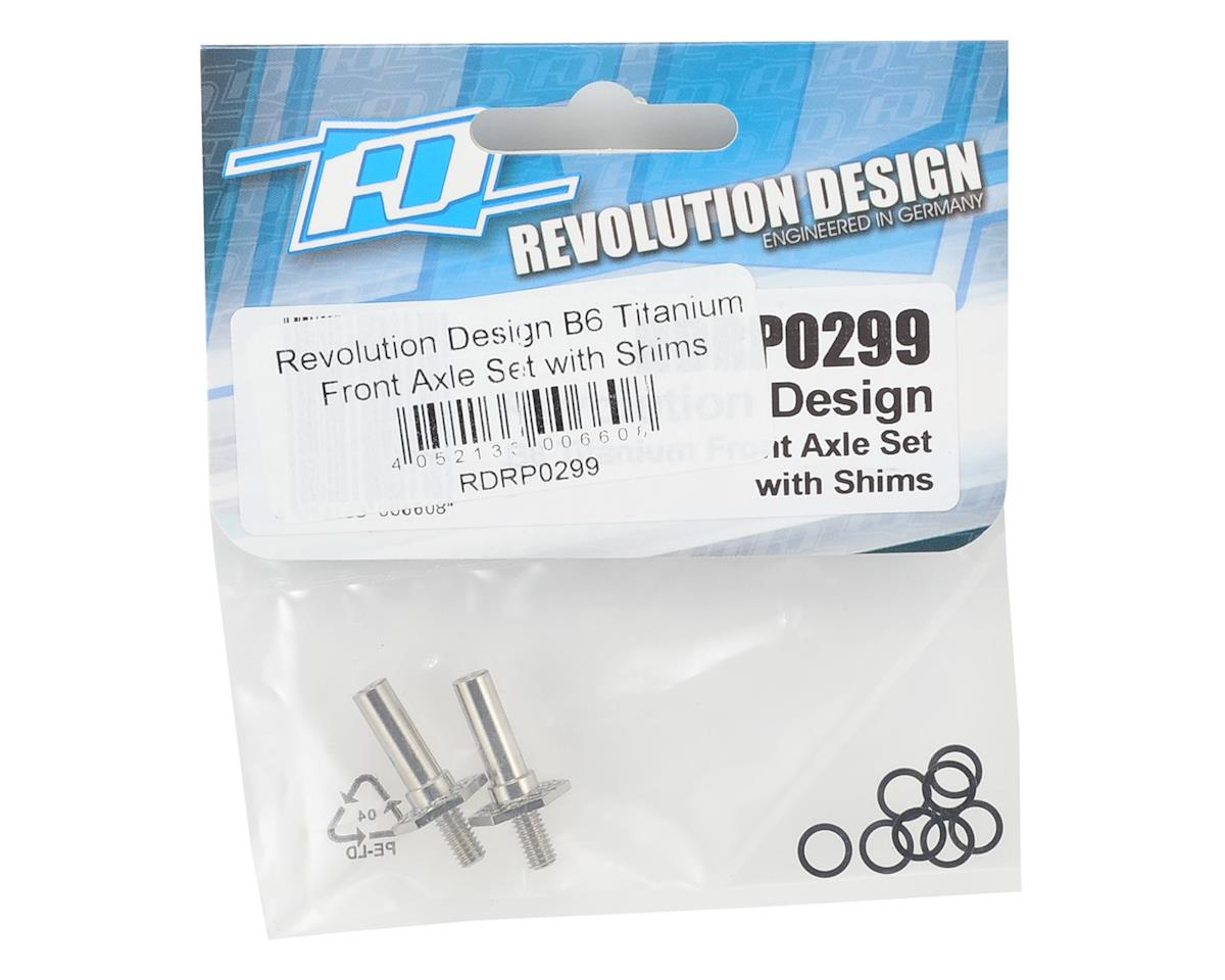 Revolution Design B6 Titanium Front Axle Set w/shims