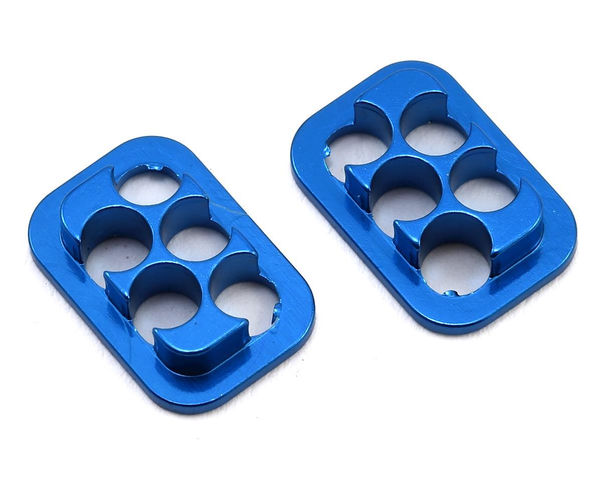 Revolution Design B6/B74 Rear Hub Link Aluminum Inserts (Blue) (2)