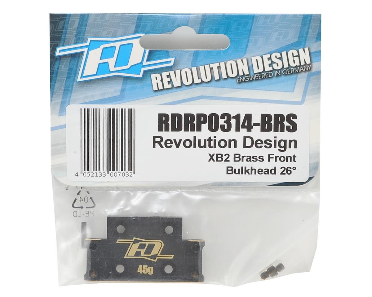 Revolution Design XB2 Brass Front Bulkhead (26°)