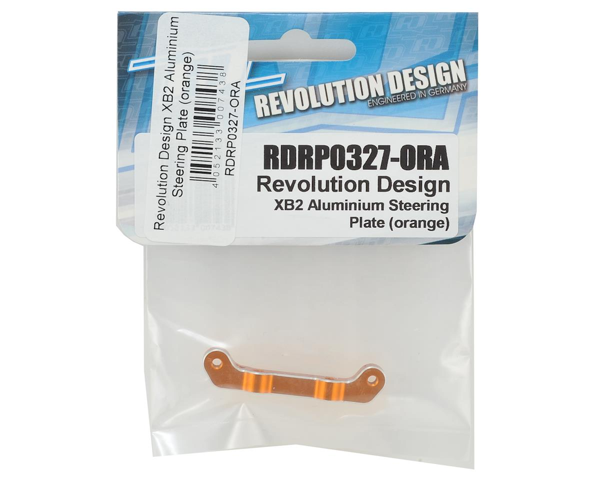 Revolution Design XB2 Aluminum Steering Plate (Orange)