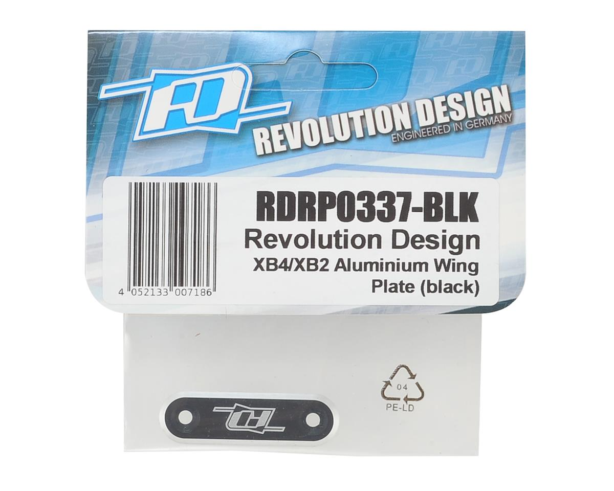Revolution Design XB4/XB2 Aluminum Wing Plate (Black)