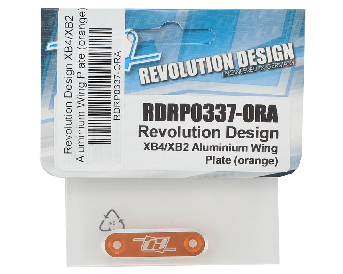 Revolution Design XB4/XB2 Aluminum Wing Plate (Orange)