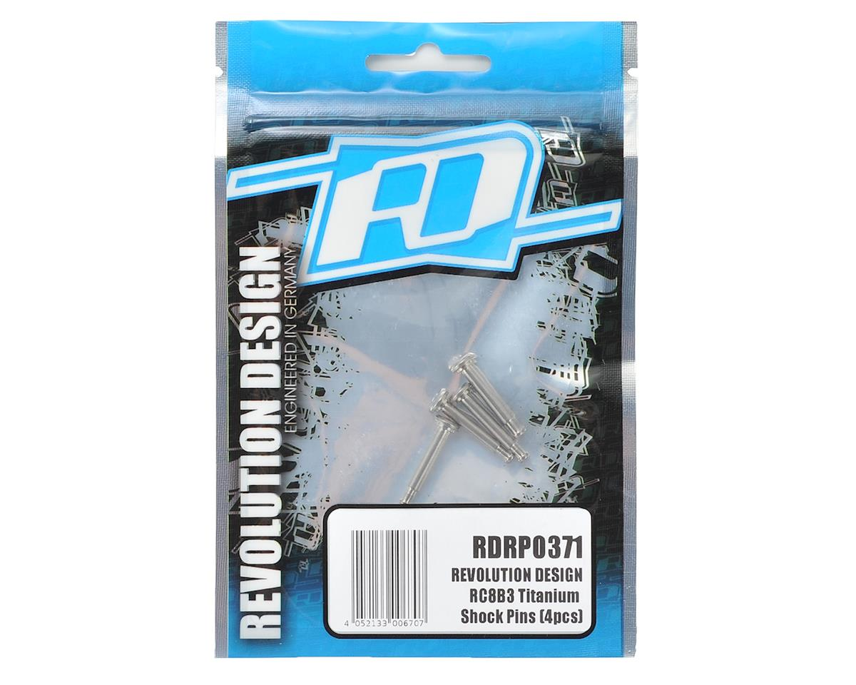 Revolution Design RC8B3 Titanium Shock Pins (4)