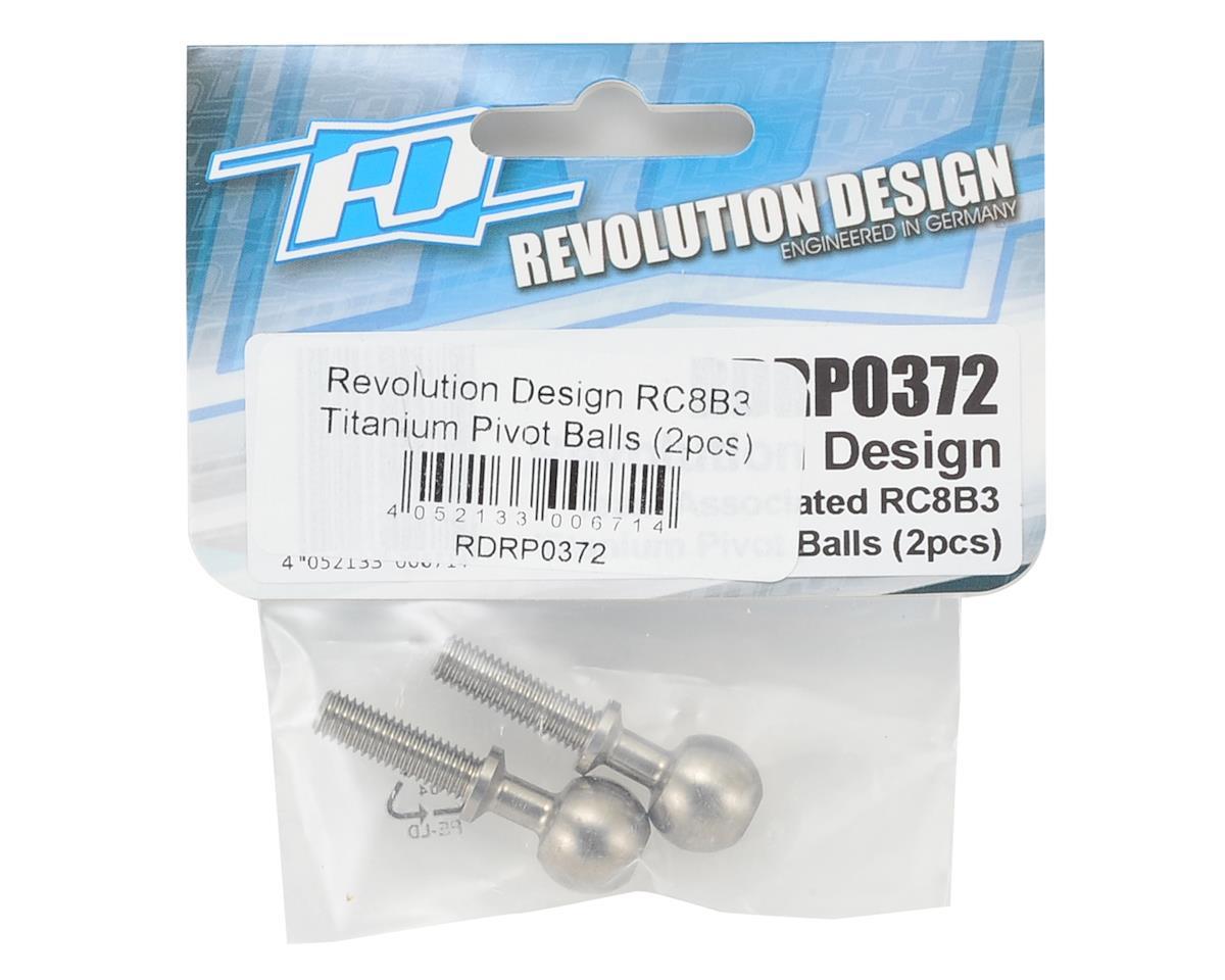 Revolution Design RC8B3 Titanium Pivot Balls (2)