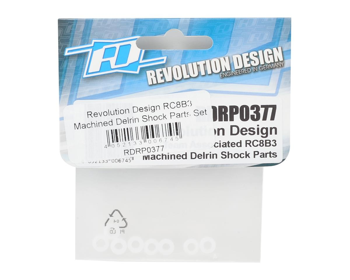 Revolution Design RC8B3 Machined Delrin Shock Parts Set