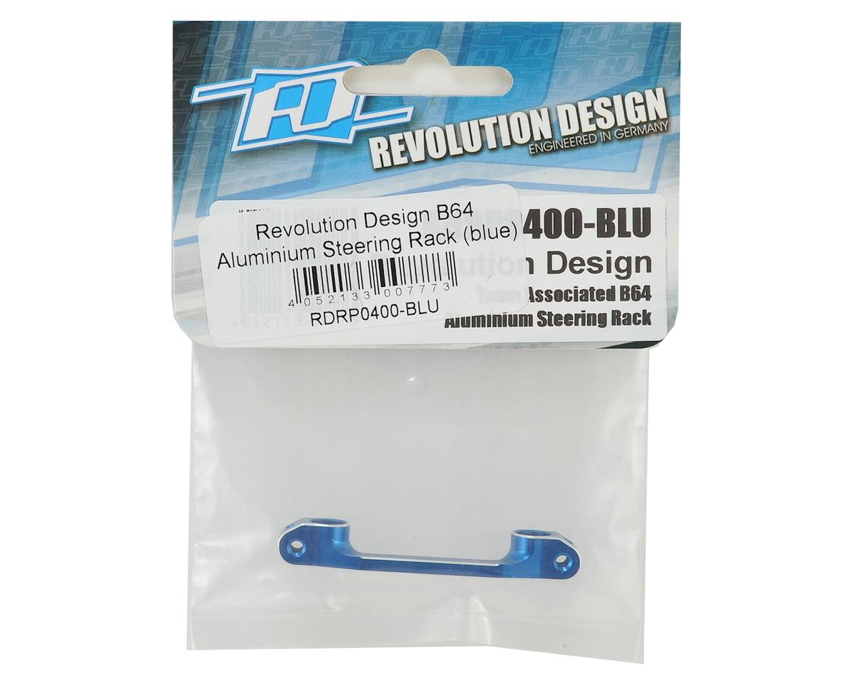Revolution Design B64 Aluminum Steering Rack (Blue)