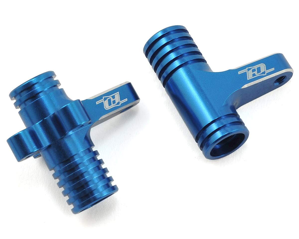 B64 Aluminum Steering Bellcrank Set (Blue) by Revolution Design