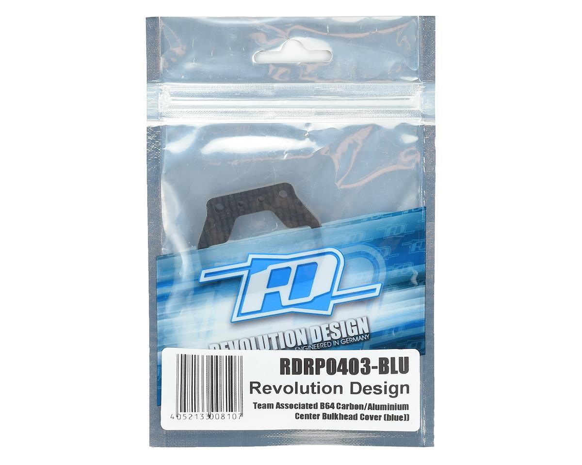 Revolution Design B64 Carbon/Aluminum Center Bulkhead Cover (Blue)