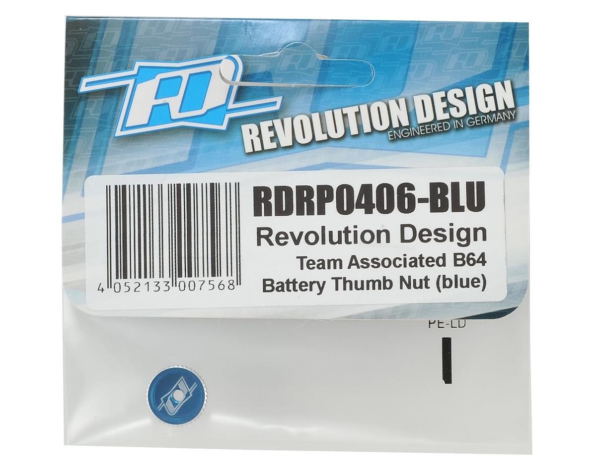 Revolution Design B64 Battery Thumb Nut (Blue)