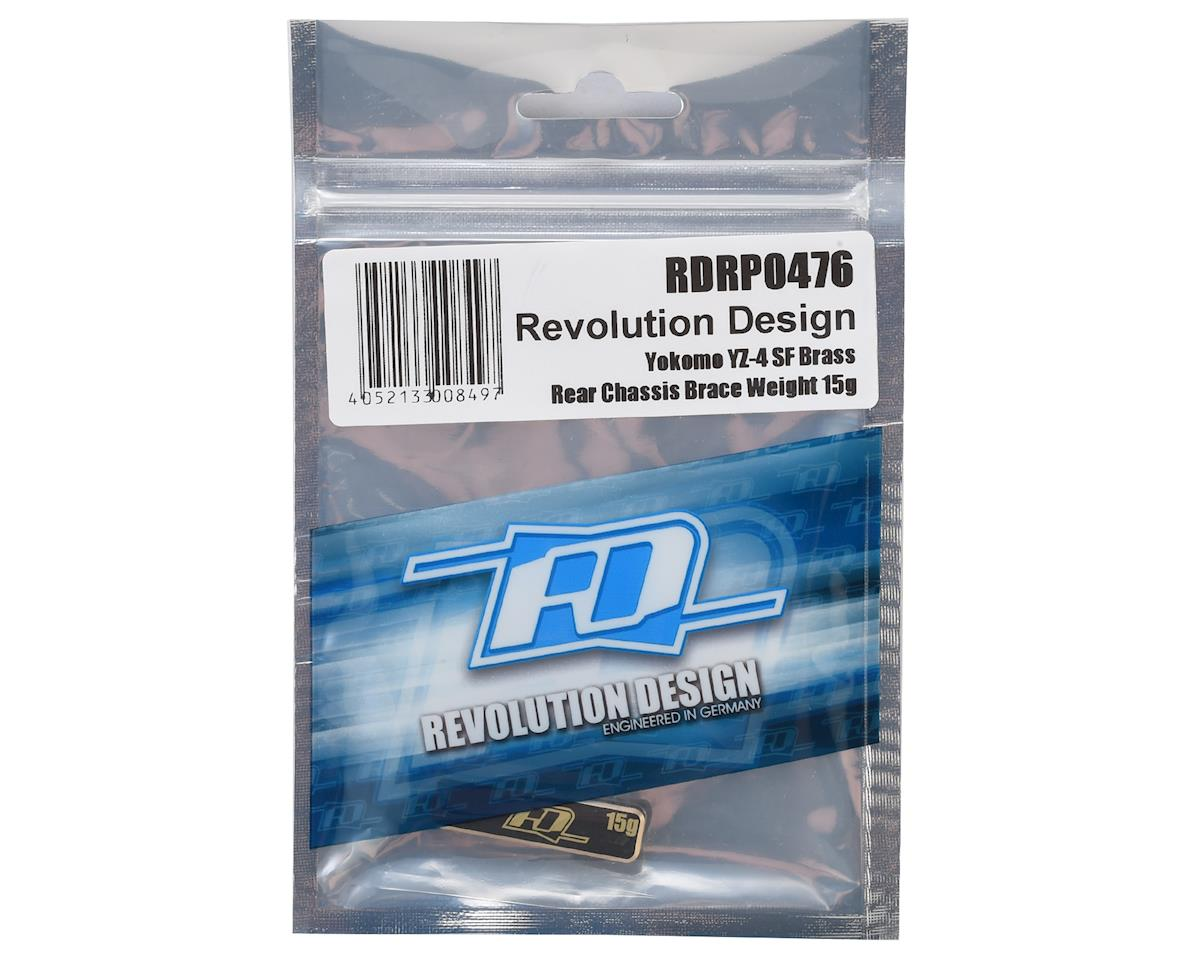 Revolution Design YZ-4 SF Brass Rear Chassis Weight (15g)