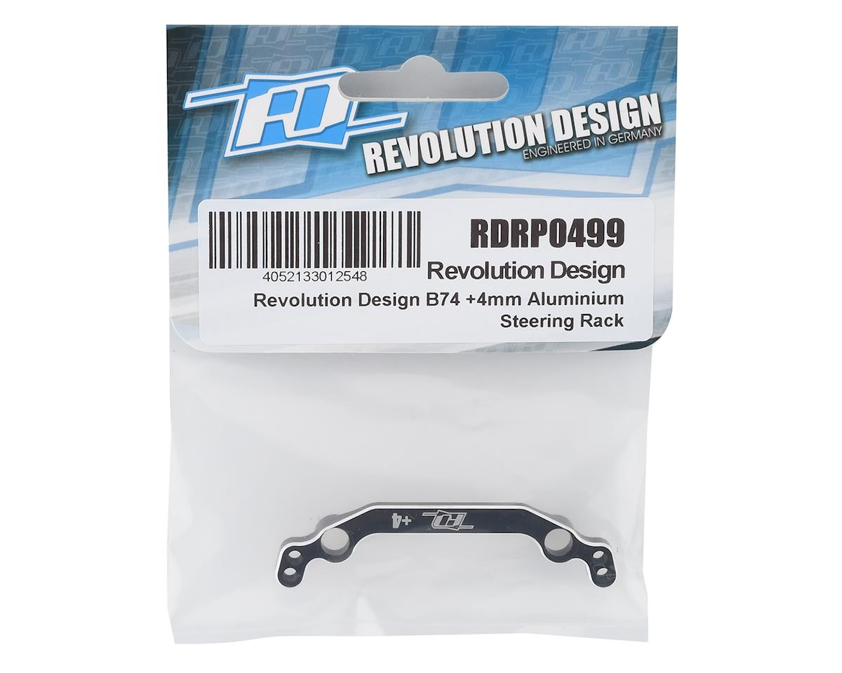 Image 2 for Revolution Design B74 +4mm Aluminum Steering Rack (Black)