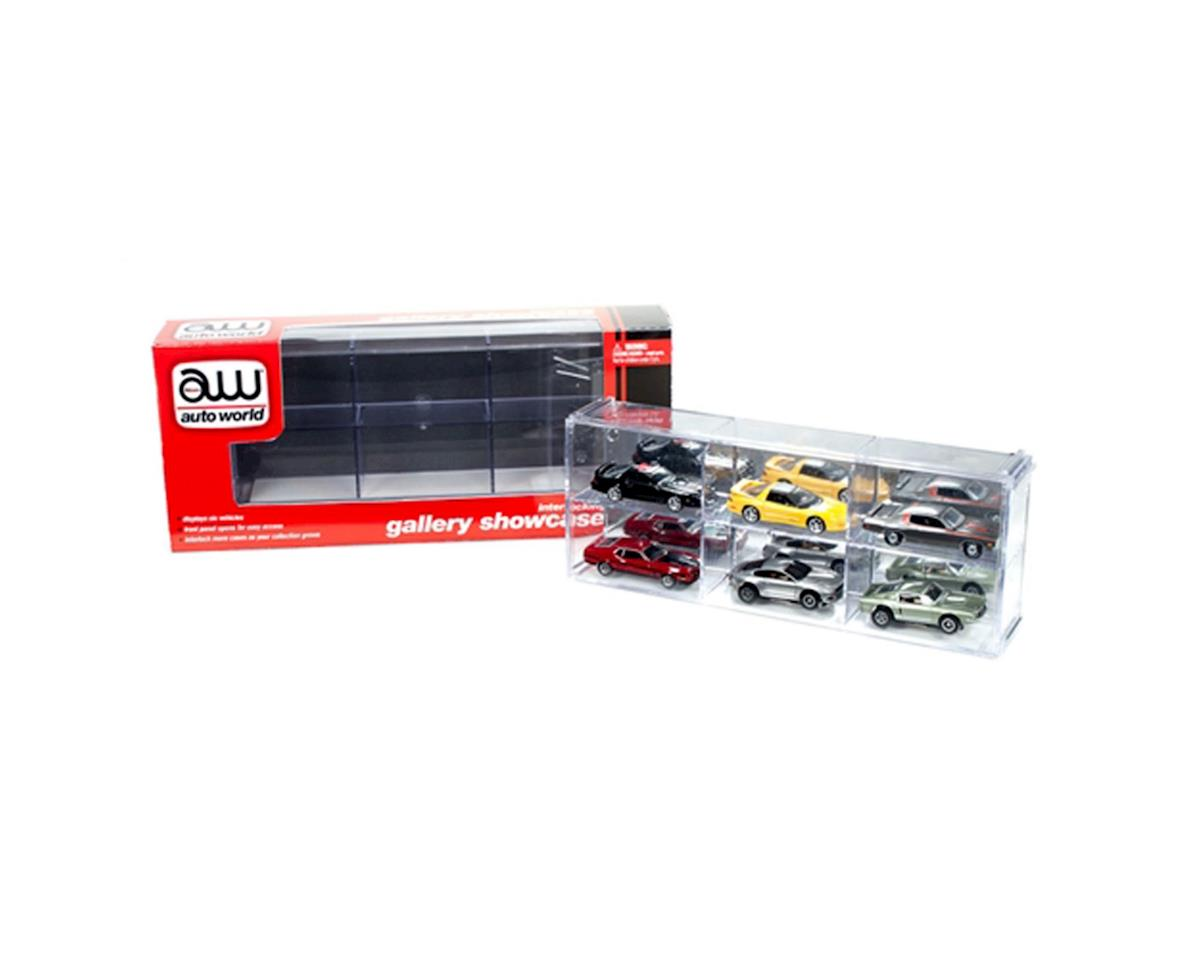 Six Car Interlocking Display Case