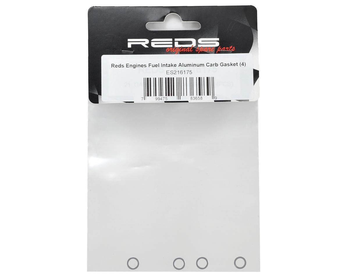 REDS Racing Aluminum Fuel Intake Carburetor Gasket (4)