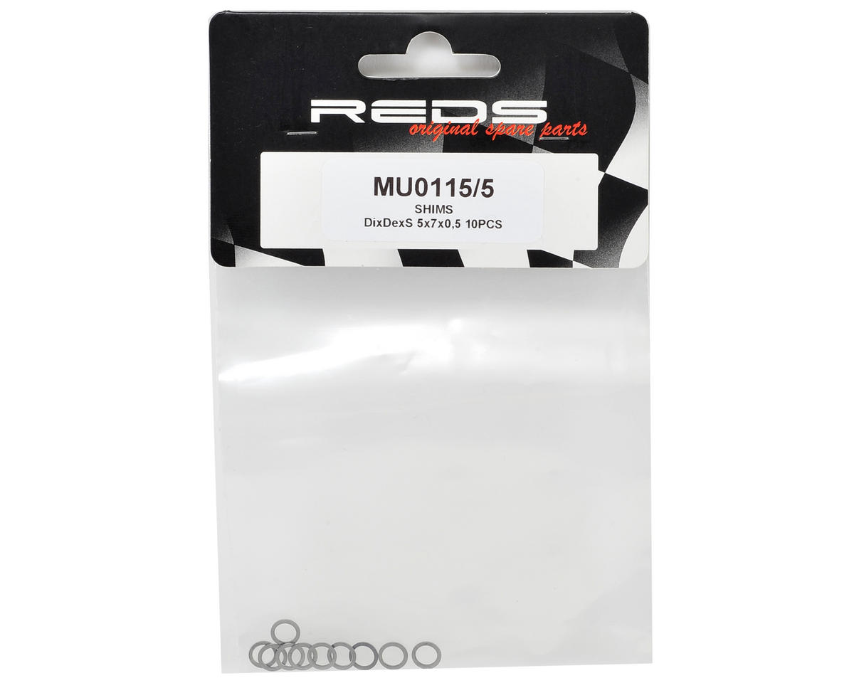 REDS Racing 5x7x0.5mm DixDexS Clutch Shim (10)