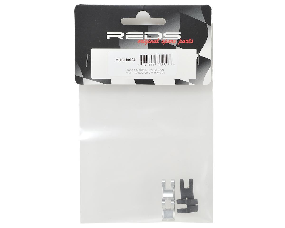 "Image 2 for REDS ""Quattro"" Off-Road V2 Clutch Shoe Set (4) (Aluminum & Carbon)"