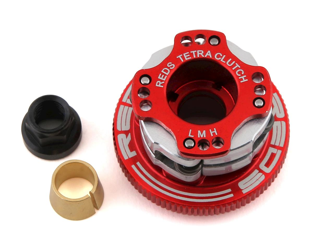 "REDS 32mm Off-Road ""Tetra"" V3 Adjustable Aluminum 4-Shoe Clutch System (HB Racing D8T)"