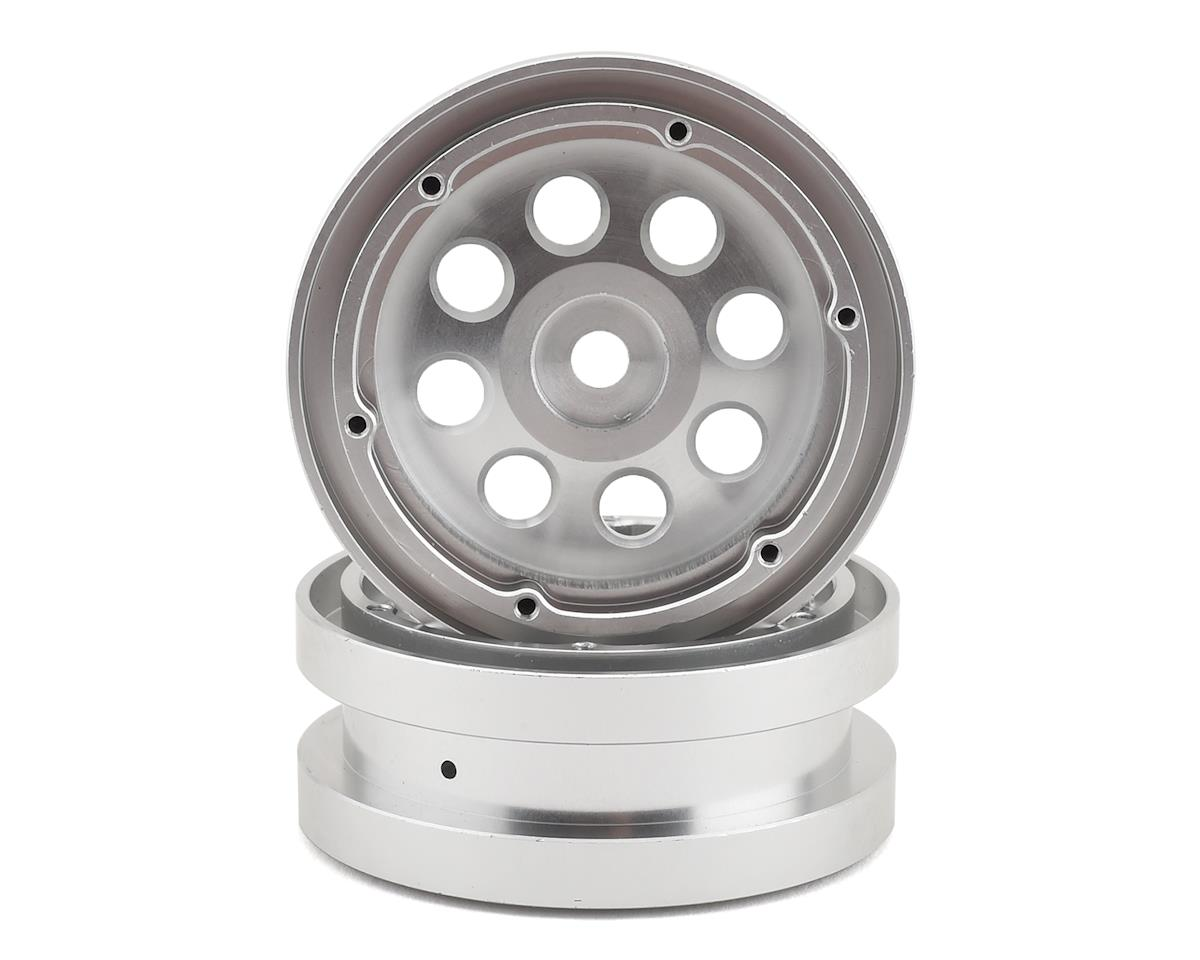 "Redcat Gen8 Aluminum 1.9"" Beadlock 12mm Hex Wheel w/Rings (Silver) (2)"