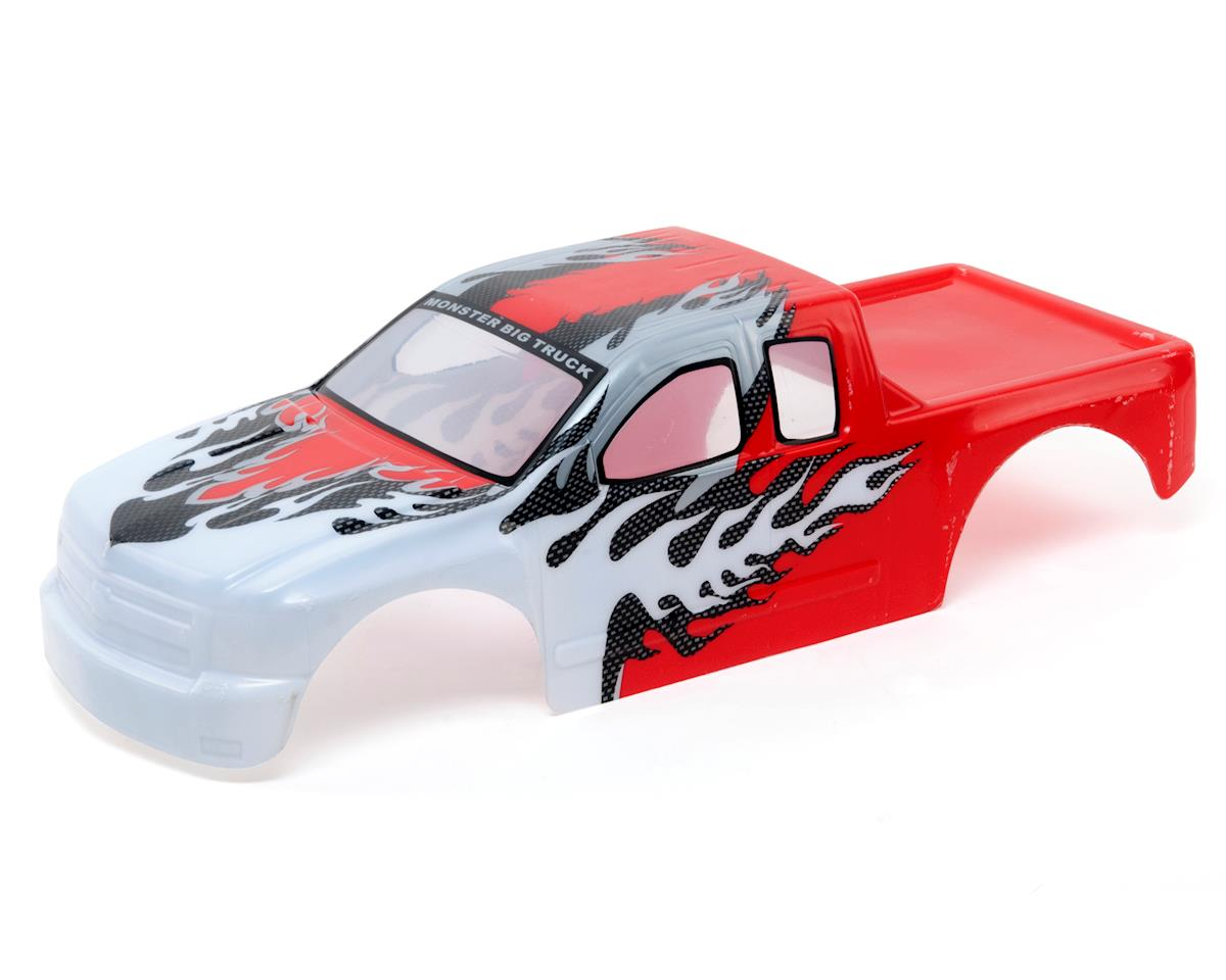 Redcat Racing Rampage MT Pre-Painted Monster Truck Body (Red/White)