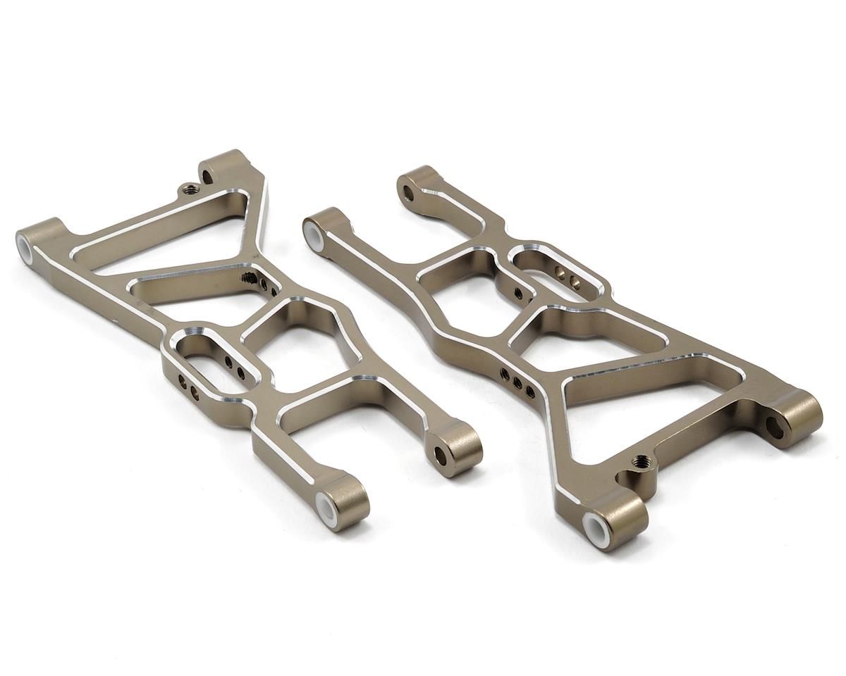 Aluminum Front Lower Suspension Arm Set (Gun Metal) by Redcat Racing