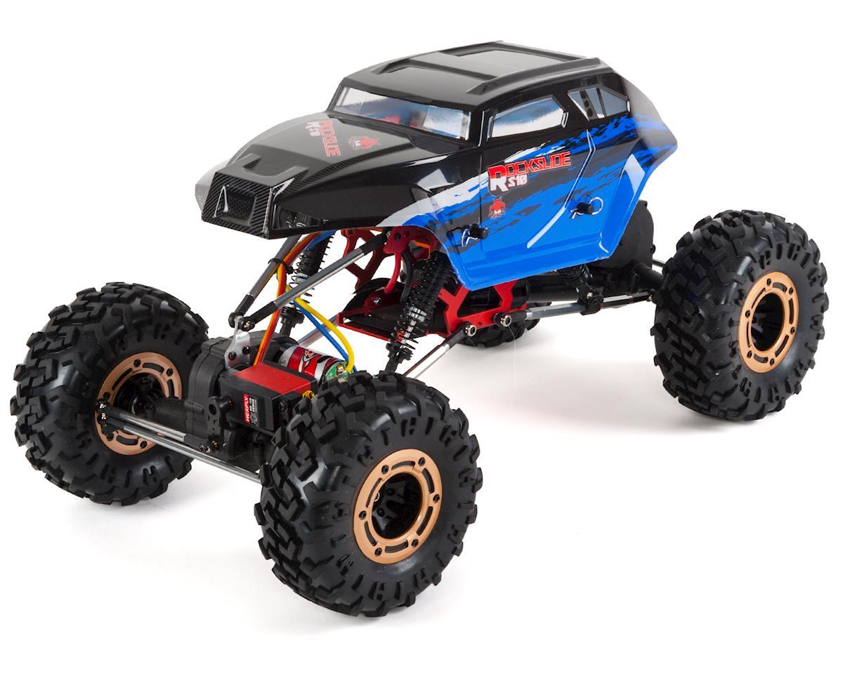 Redcat Rockslide RS10 XT 1/10 RTR 4WD Rock Crawler w/3-Channel 2 4GHz Radio  (Blue)