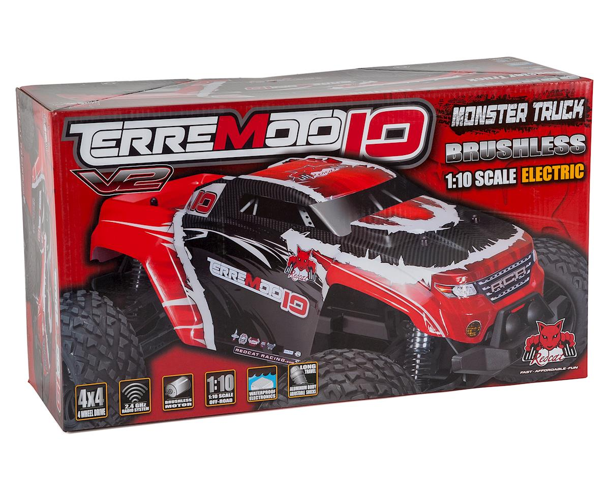 Redcat Terremoto-10 V2 Brushless 1/10 Monster Truck (Black)