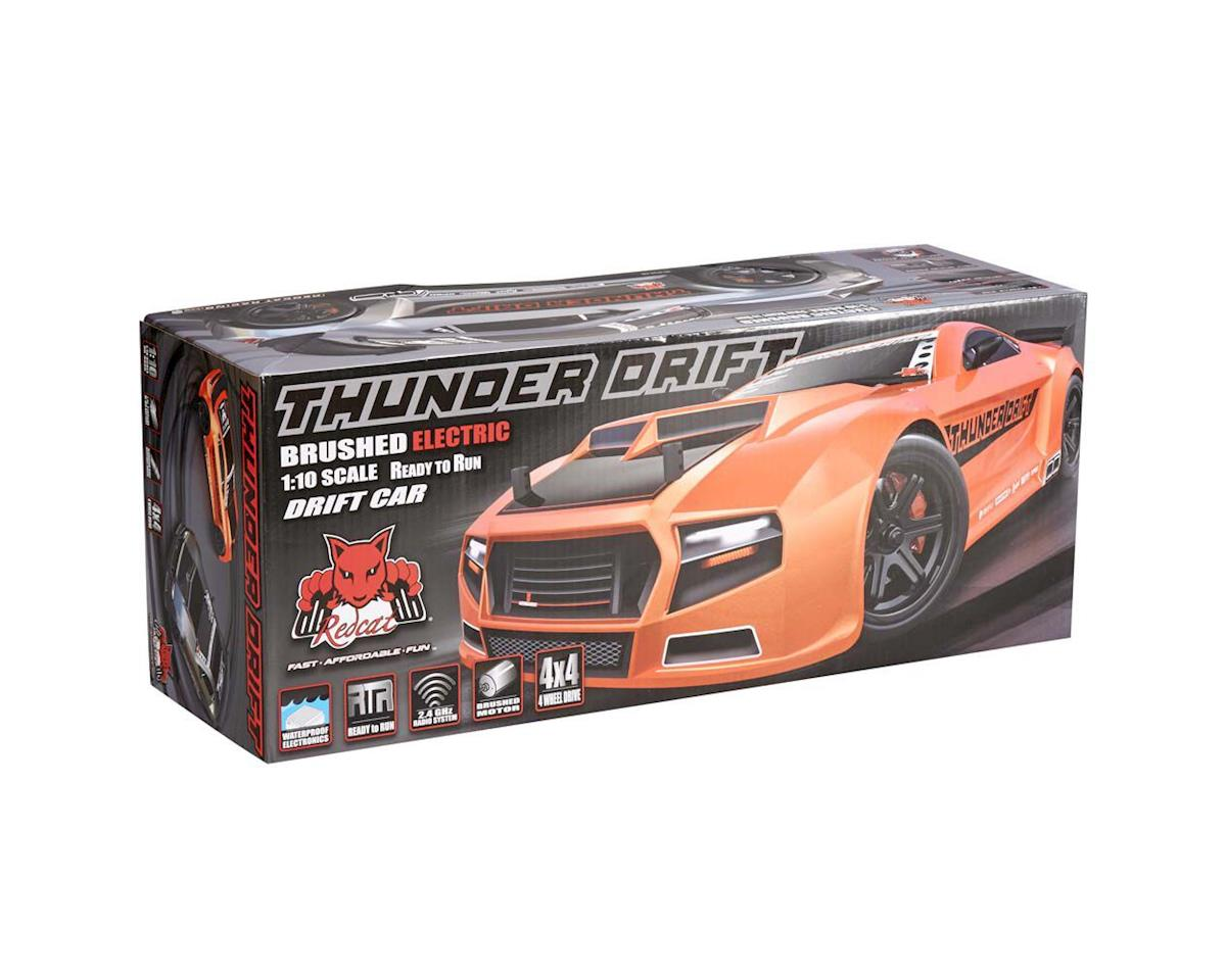 Redcat 1/10 scale Electric Powered Ready-to-Run Thunder Drift Car(Met Orange)