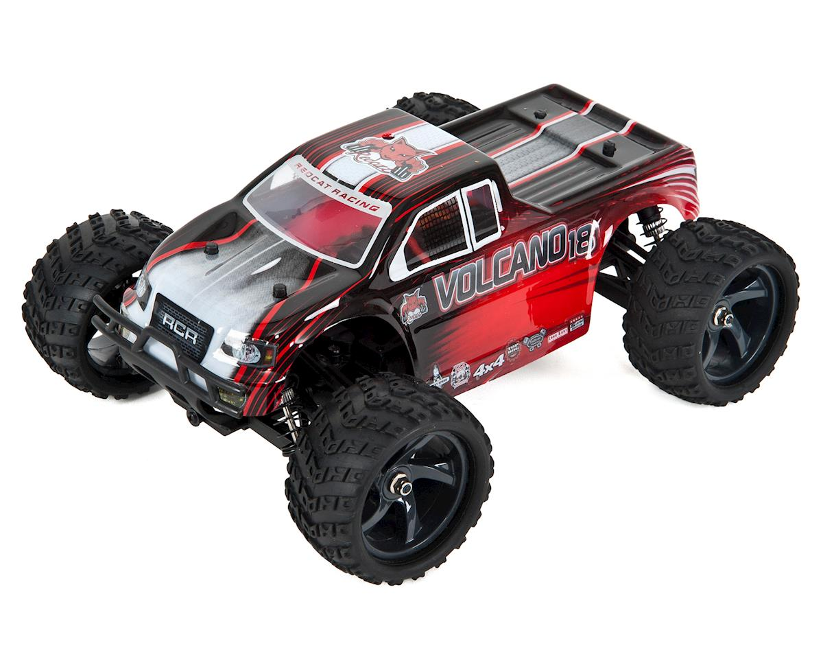 Redcat Volcano-18 V2 1/18 4WD Electric Monster Truck w/2 4GHz Radio (Red)