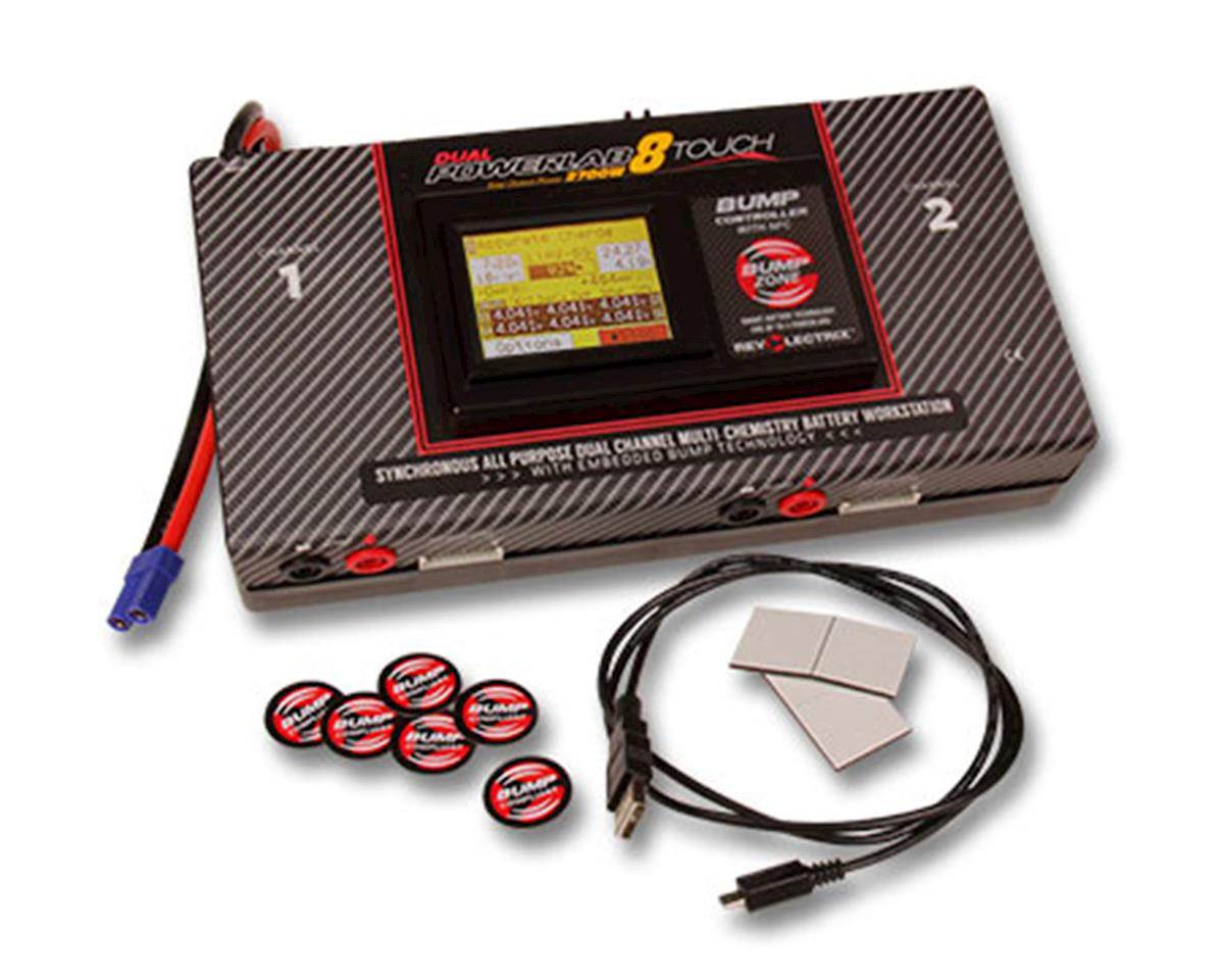 Revolectrix Dual PowerLab 8T Touch DC Battery Charger Station (8S/40A/1350W  x2) w/Integrated Bump Controller