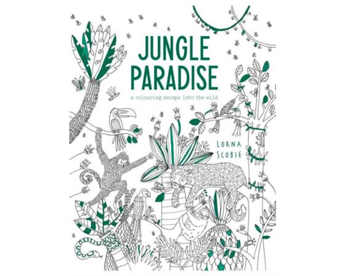 Adult Coloring Book Jungle Paradise