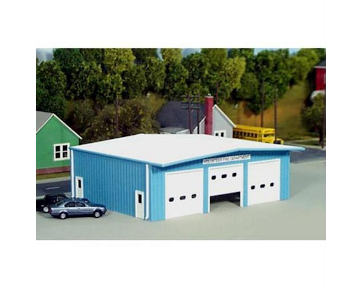 Rix Products HO KIT Fire Station, Blue