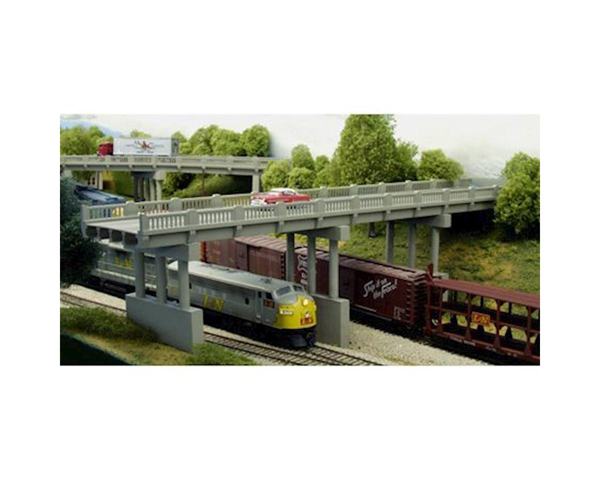 Rix Products N 150' Highway Overpass w/Piers (4)