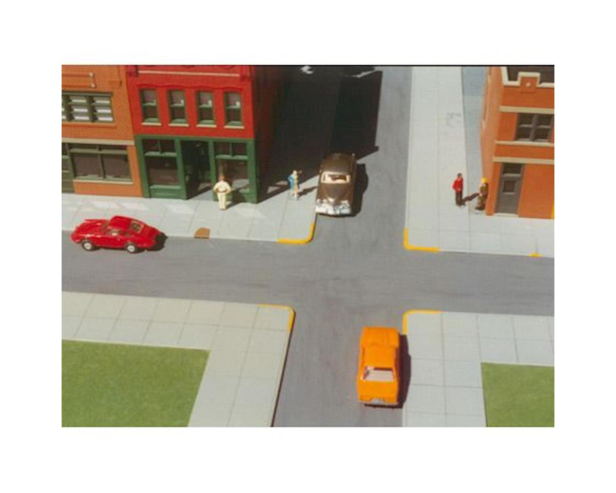 Rix Products HO KIT 10'x40' City Sidewalks (6)