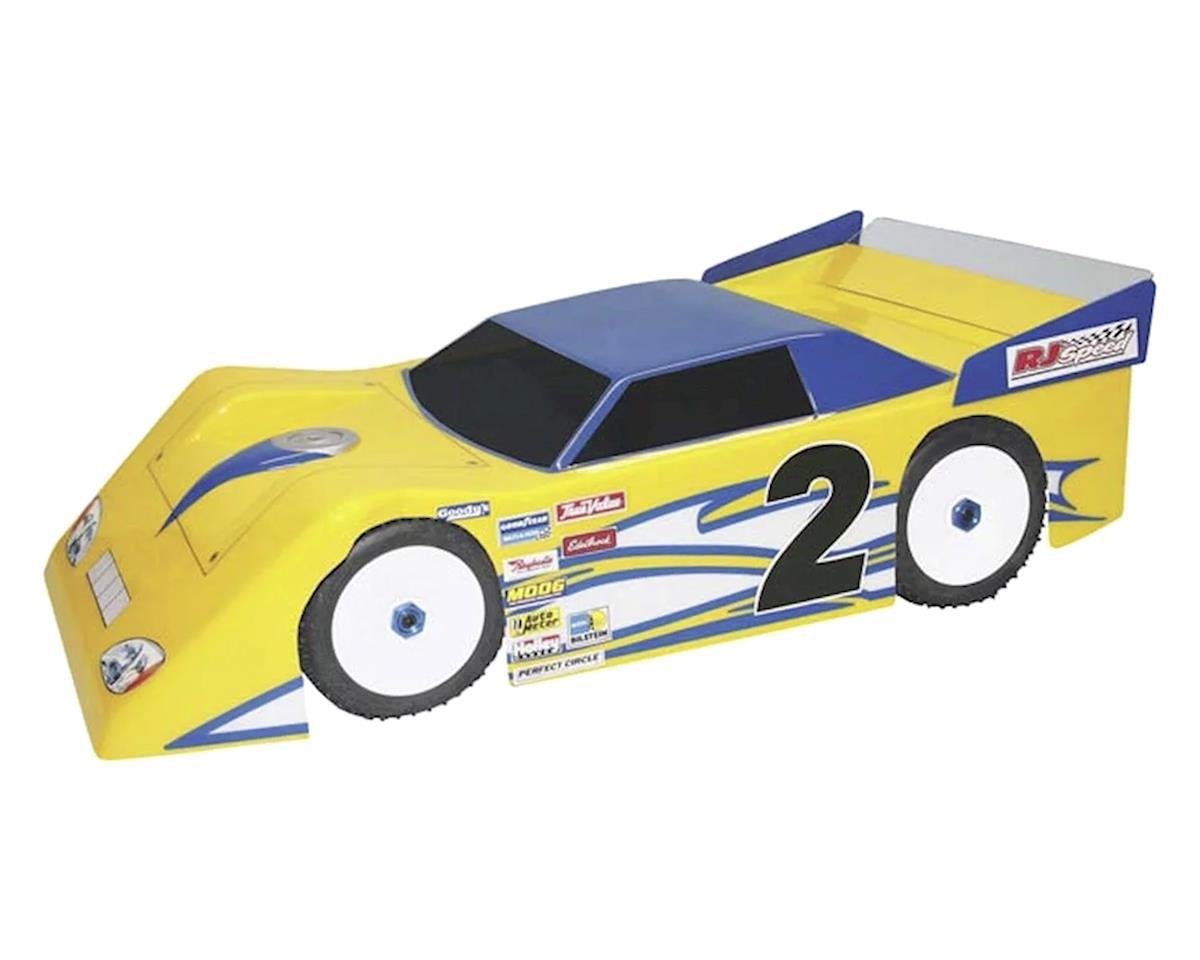 RJ Speed Mega Wedge 1/8 Dirt Oval Late Model Body (Clear)