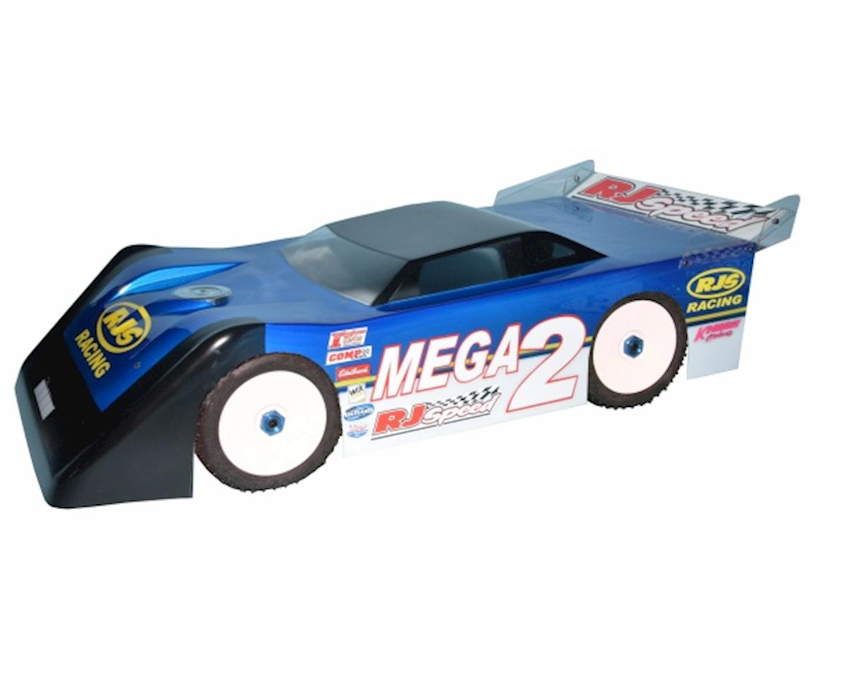 RJ Speed 1/8 Mega Wedge 2 Dirt Oval Late Model Body (Clear)