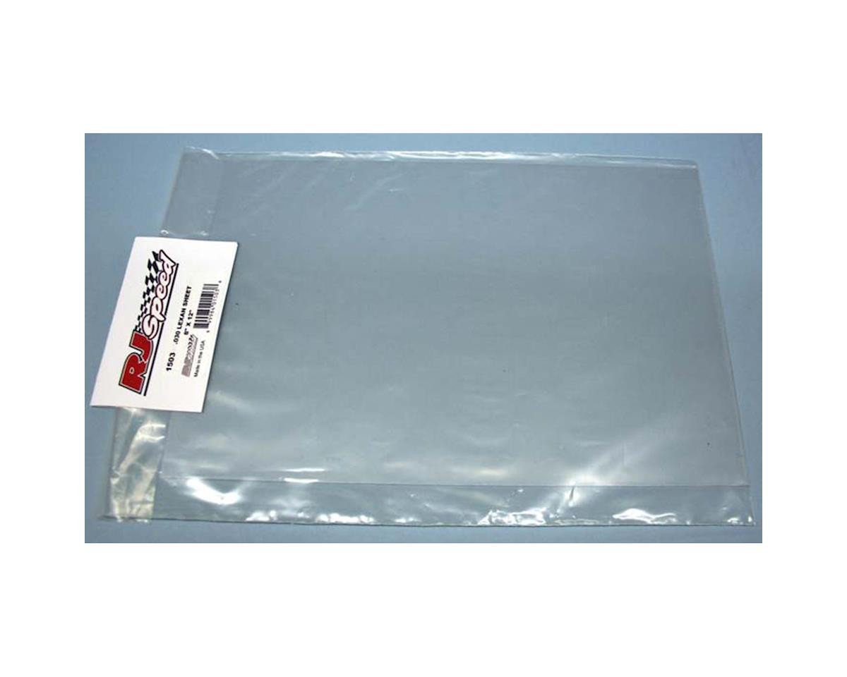 "RJ Speed 8x12"" .020"" Lexan Sheet"