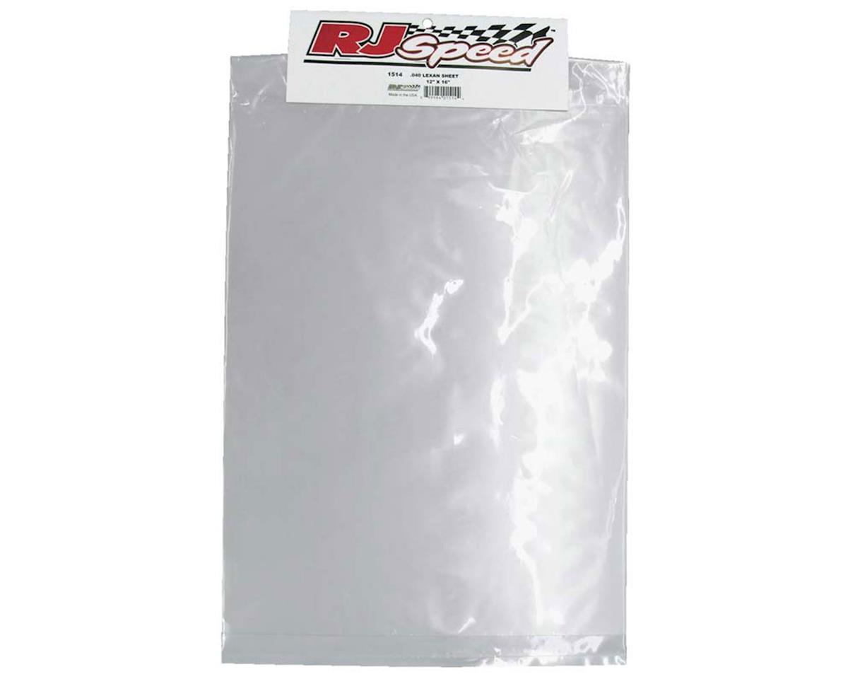 "12x16"" .040"" Large Lexan Sheet by RJ Speed"