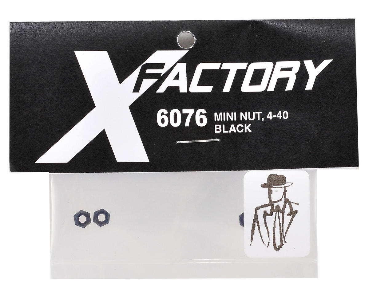 "X Factory ""Real Men Wear Black"" 4-40 Mini Locknut (Black) (4)"
