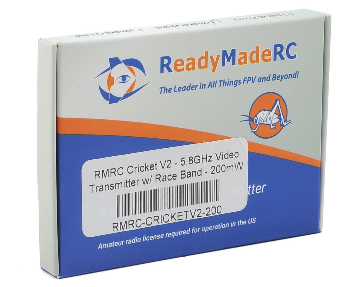 RMRC Cricket V2 5.8GHz Video Transmitter w/RaceBand 200mW
