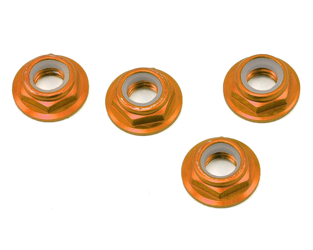RMRC M5 CCW Aluminum Low Profile Lock Nut (Orange) (4)