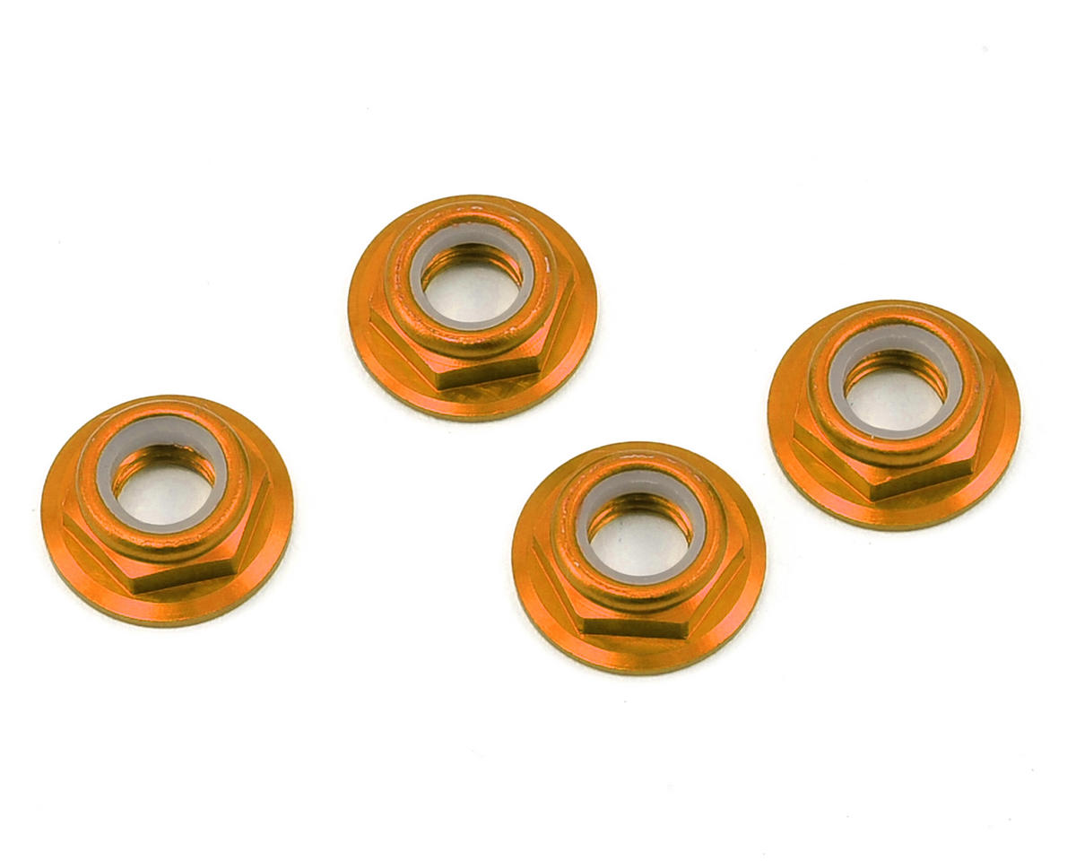 RMRC M5 CW Aluminum Low Profile Lock Nut (Orange) (4)