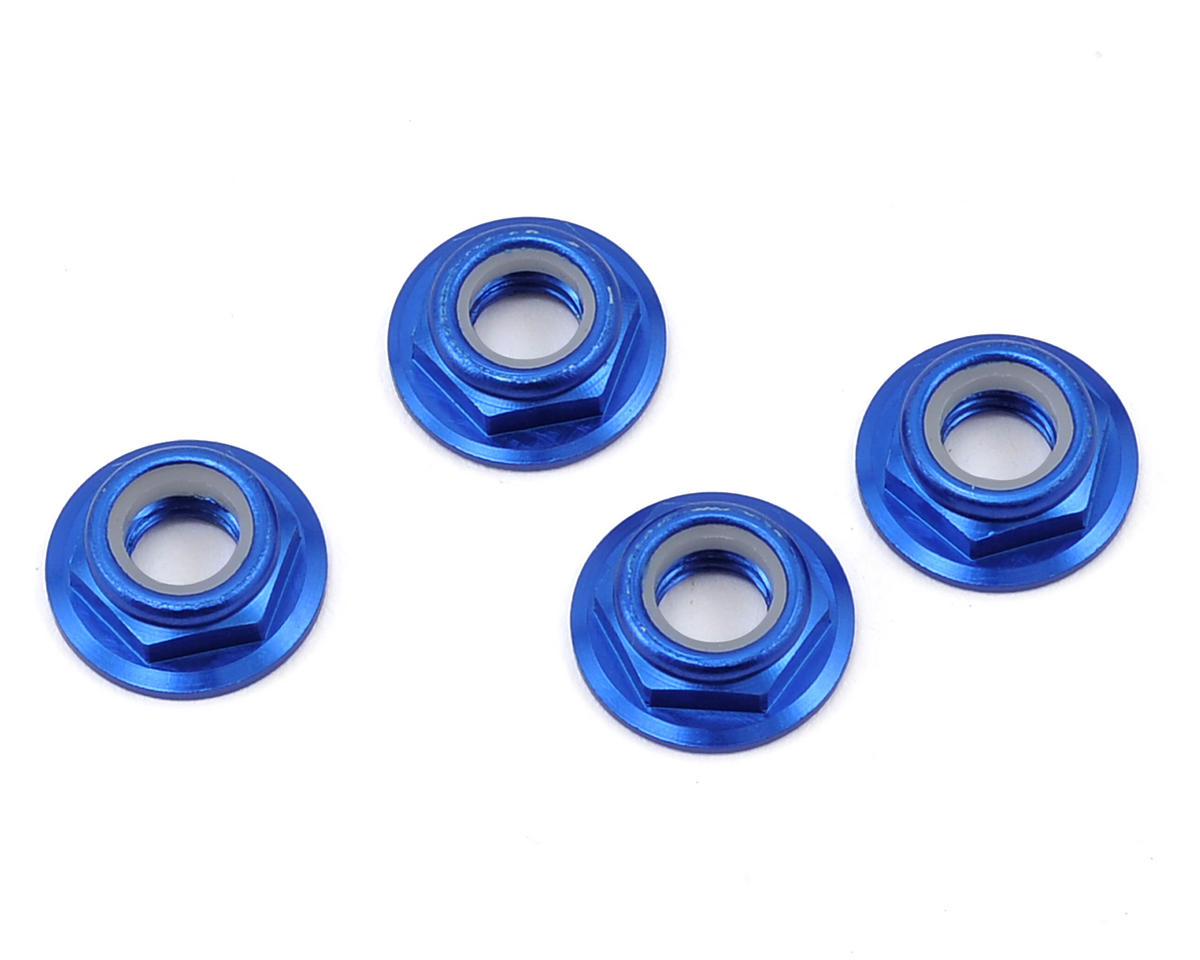 RMRC M5 CW Aluminum Low Profile Lock Nut (Blue) (4)